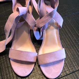 Lilac sexy wrap around sandal